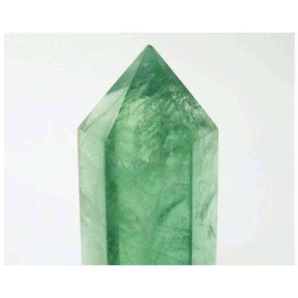 フローライト ポイント 63g 蛍石 パワーストーン 蛍光 緑色 P0628|rarestone|08