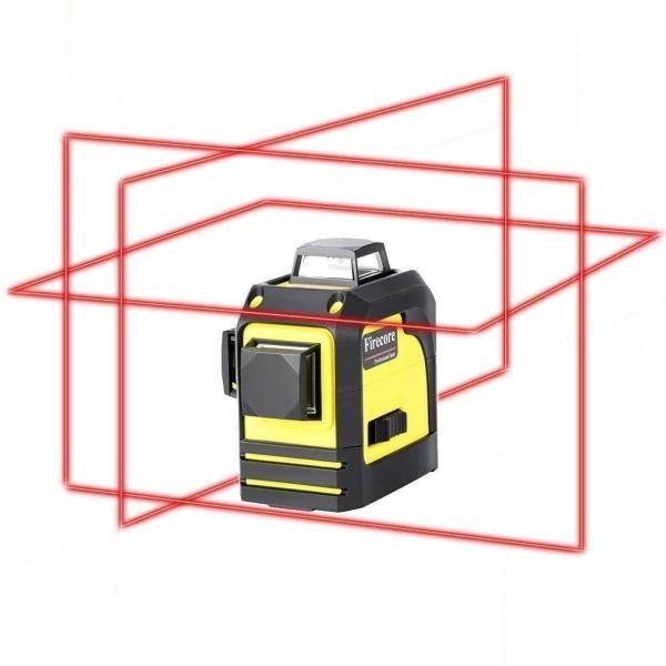 赤字販売 送料無料 Firecore 3-3D 12ラインレーザー 墨出し器 F93TR レーザー レベル 赤色レーザビーム  レッドレーザー 自動水平調整機能|rashiniko|02