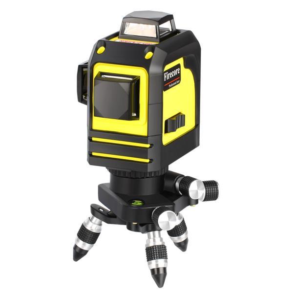 赤字販売 送料無料 Firecore 3-3D 12ラインレーザー 墨出し器 F93TR レーザー レベル 赤色レーザビーム  レッドレーザー 自動水平調整機能|rashiniko|04