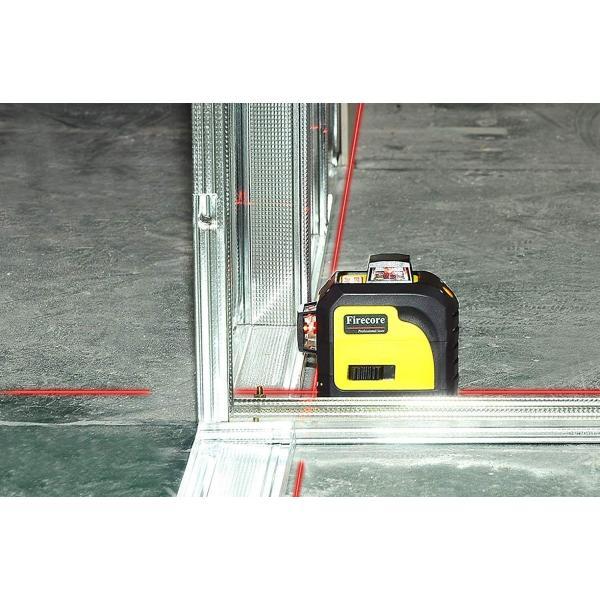 赤字販売 送料無料 Firecore 3-3D 12ラインレーザー 墨出し器 F93TR レーザー レベル 赤色レーザビーム  レッドレーザー 自動水平調整機能|rashiniko|06