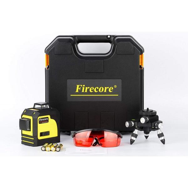 赤字販売 送料無料 Firecore 3-3D 12ラインレーザー 墨出し器 F93TR レーザー レベル 赤色レーザビーム  レッドレーザー 自動水平調整機能|rashiniko|07