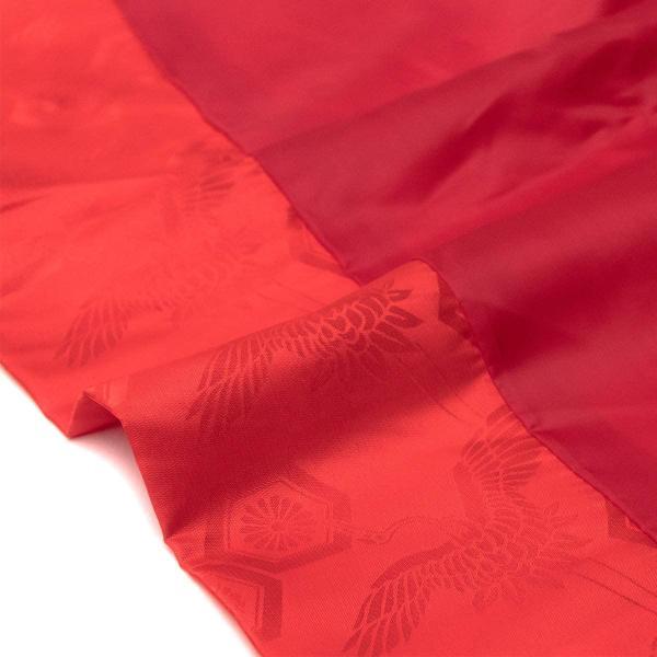 キョウエツ ちゃんちゃんこ 還暦 赤 綸子単衣 還暦祝い 3点セット(赤いちゃんちゃんこ、頭巾、扇子) (熨斗無し) raspberryrose 04