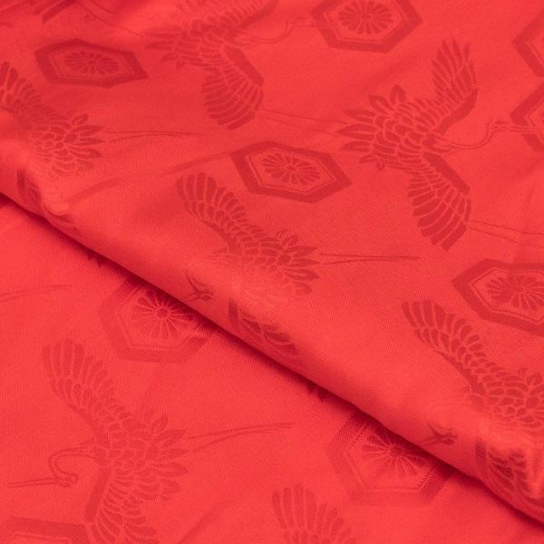 キョウエツ ちゃんちゃんこ 還暦 赤 綸子単衣 還暦祝い 3点セット(赤いちゃんちゃんこ、頭巾、扇子) (熨斗無し) raspberryrose 05