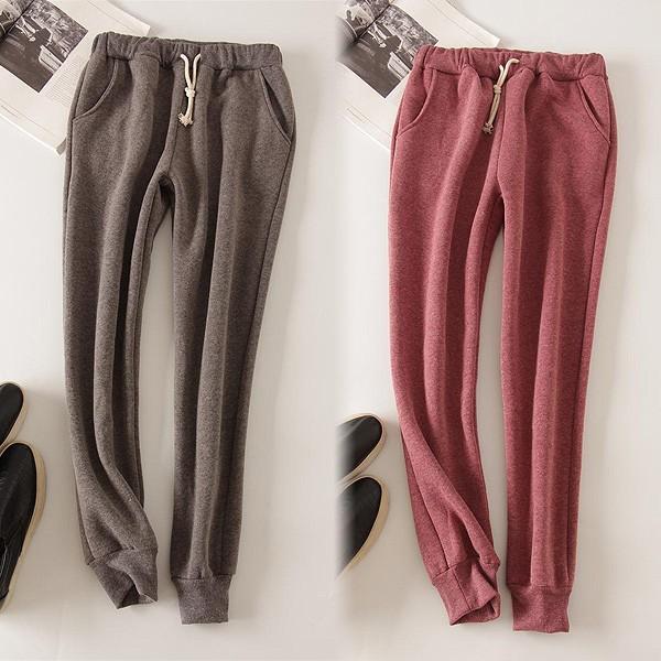 パンツ レディース 裏起毛 ズボン スウェット ルームウェア 大きいサイズ シンプル 無地 ^b193^|raspberryy|03