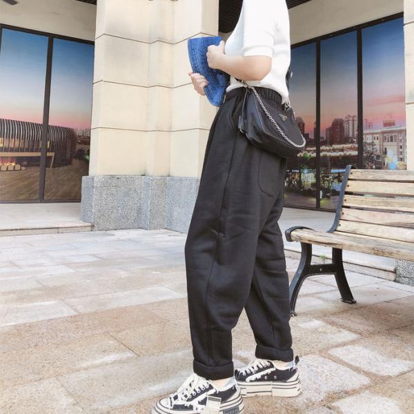 パンツ レディース 裏起毛 テーパードパンツ ラシャ素材 シンプル ゆったり 大きめ カジュアル ^b261^|raspberryy|11