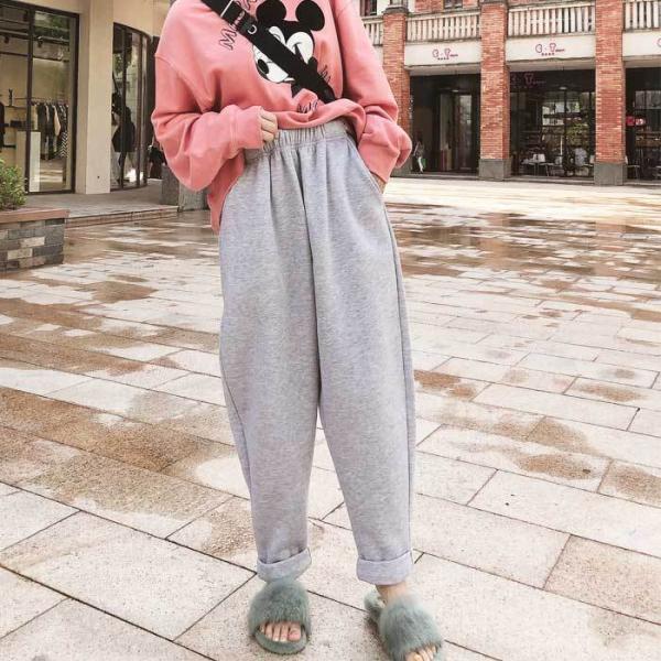 パンツ レディース 裏起毛 テーパードパンツ ラシャ素材 シンプル ゆったり 大きめ カジュアル ^b261^|raspberryy|09