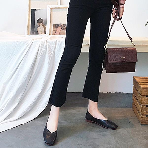 パンプス 痛くない 歩きやすい ローヒール オフィス 大きいサイズ スクエア ぺたんこ フォーマル フラット ^bo-564^|raspberryy|08