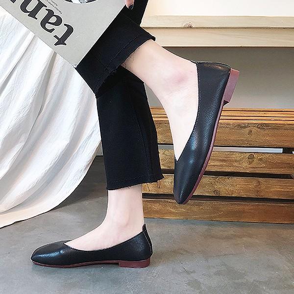 パンプス 痛くない 歩きやすい ローヒール オフィス 大きいサイズ スクエア ぺたんこ フォーマル フラット ^bo-564^|raspberryy|10
