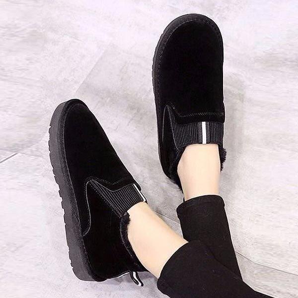 ムートンブーツ スリッポン レディース ボアシューズ 内ボア ファー ぺたんこ フラット 歩きやすい靴 ^bo-621^|raspberryy|11