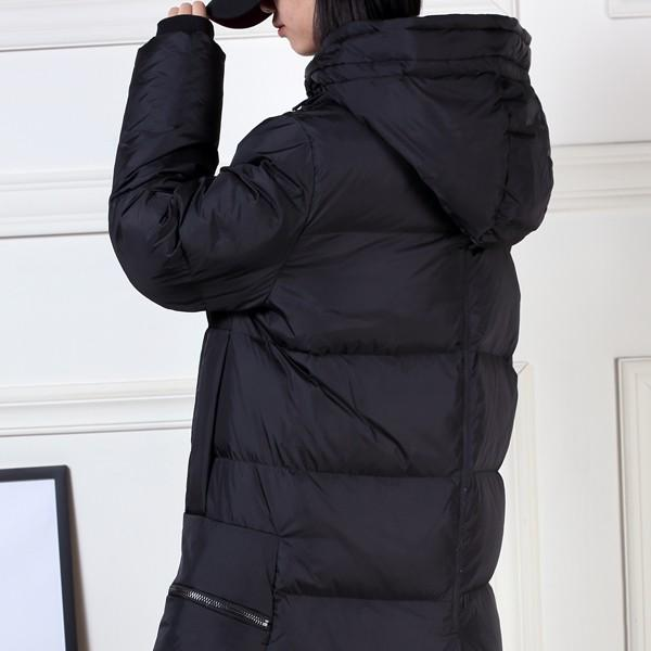 ダウンコート レディース ロング丈 ダウンジャケット きれいめ おしゃれ 防風防寒 ジャケット フード アウター ロングコート (送料無料) (jk067)|raspberryy|06