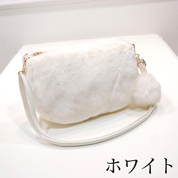 ショルダーバッグ  レディース 小さめ 斜め ファー クラッチバッグ バッグ BAG 鞄  (ka-122)|raspberryy|02