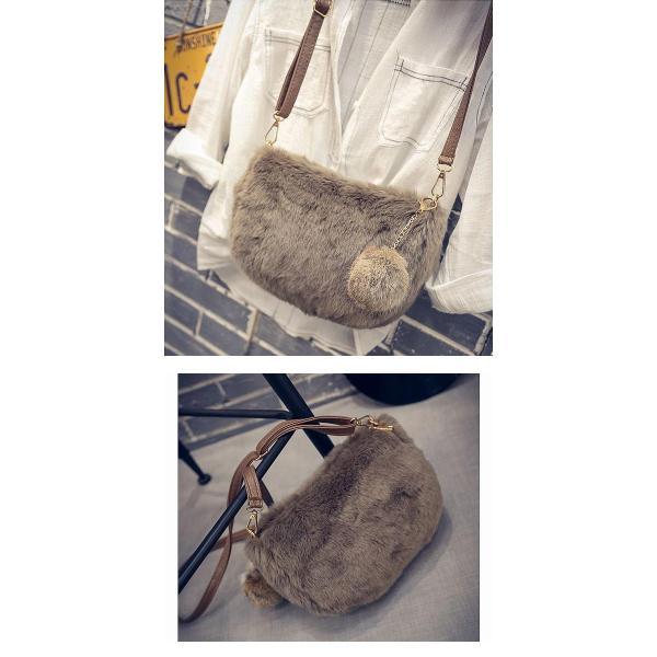 ショルダーバッグ  レディース 小さめ 斜め ファー クラッチバッグ バッグ BAG 鞄  (ka-122)|raspberryy|11