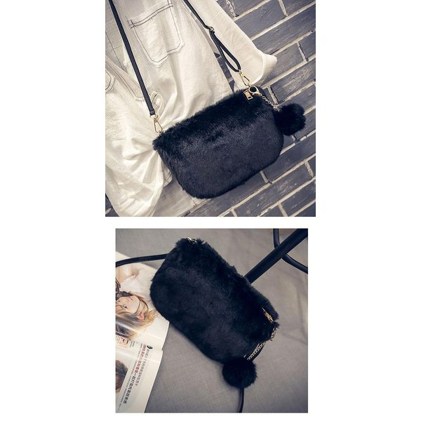 ショルダーバッグ  レディース 小さめ 斜め ファー クラッチバッグ バッグ BAG 鞄  (ka-122)|raspberryy|12