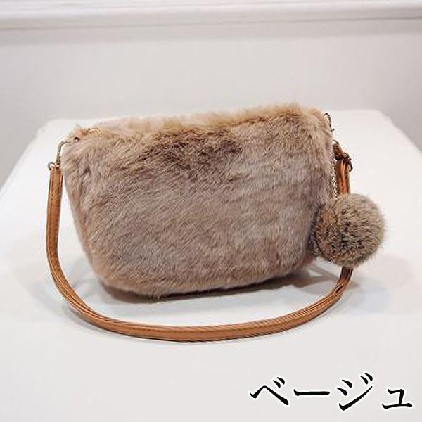 ショルダーバッグ  レディース 小さめ 斜め ファー クラッチバッグ バッグ BAG 鞄  (ka-122)|raspberryy|03