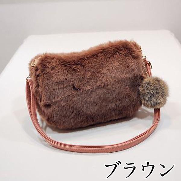 ショルダーバッグ  レディース 小さめ 斜め ファー クラッチバッグ バッグ BAG 鞄  (ka-122)|raspberryy|04