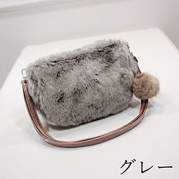 ショルダーバッグ  レディース 小さめ 斜め ファー クラッチバッグ バッグ BAG 鞄  (ka-122)|raspberryy|05