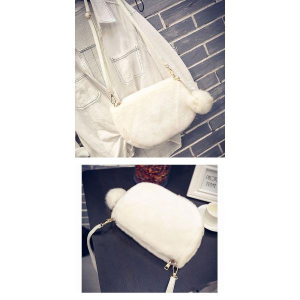 ショルダーバッグ  レディース 小さめ 斜め ファー クラッチバッグ バッグ BAG 鞄  (ka-122)|raspberryy|08
