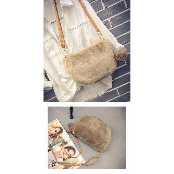 ショルダーバッグ  レディース 小さめ 斜め ファー クラッチバッグ バッグ BAG 鞄  (ka-122)|raspberryy|09
