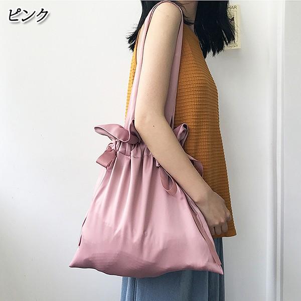 エコバッグ コンビニ レディース メンズ 巾着ショルダーバッグ 巾着バッグ リボン バッグ かばん 鞄 おしゃれ かわいい おすすめ ^ka-149^|raspberryy|02