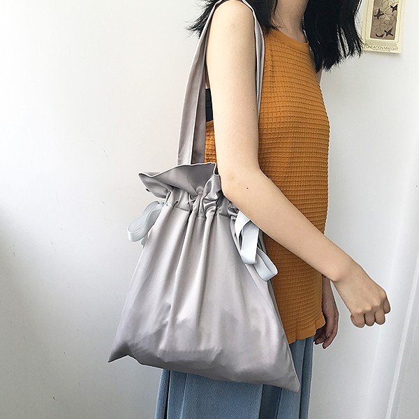 エコバッグ コンビニ レディース メンズ 巾着ショルダーバッグ 巾着バッグ リボン バッグ かばん 鞄 おしゃれ かわいい おすすめ ^ka-149^|raspberryy|07