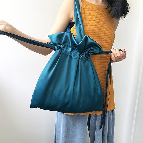エコバッグ コンビニ レディース メンズ 巾着ショルダーバッグ 巾着バッグ リボン バッグ かばん 鞄 おしゃれ かわいい おすすめ ^ka-149^|raspberryy|10