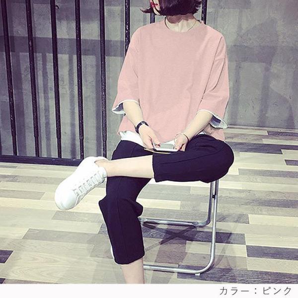【プレミアム会員5%OFF】Tシャツ トップス チュニック レディース 体型カバー ゆったり 大きいサイズ 半袖 TEE カットソー(t427)(メール便送料無料)|raspberryy|11