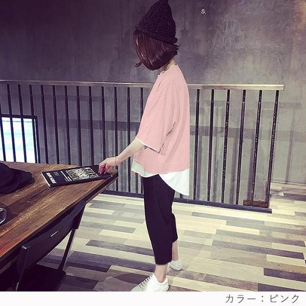【プレミアム会員5%OFF】Tシャツ トップス チュニック レディース 体型カバー ゆったり 大きいサイズ 半袖 TEE カットソー(t427)(メール便送料無料)|raspberryy|12