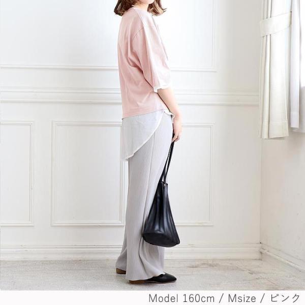 【プレミアム会員5%OFF】Tシャツ トップス チュニック レディース 体型カバー ゆったり 大きいサイズ 半袖 TEE カットソー(t427)(メール便送料無料)|raspberryy|15