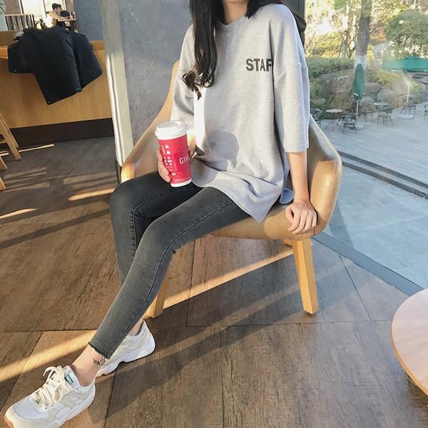 カットソー Tシャツ ロゴ バックプリント 大きいサイズ オーバーサイズ トップス レディース (t431)(Pr)(メール便送料無料) raspberryy 06