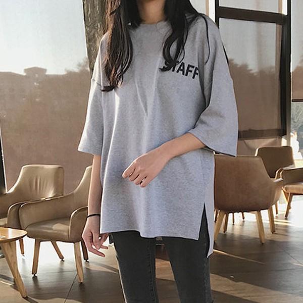 カットソー Tシャツ ロゴ バックプリント 大きいサイズ オーバーサイズ トップス レディース (t431)(Pr)(メール便送料無料) raspberryy 07