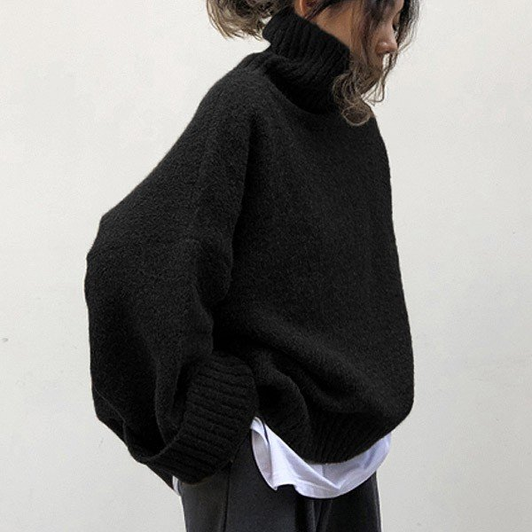 ざっくりニット タートルネック レディース 韓国 厚手 オーバーサイズ ゆったり セーター (送料無料)^t630^|raspberryy|15