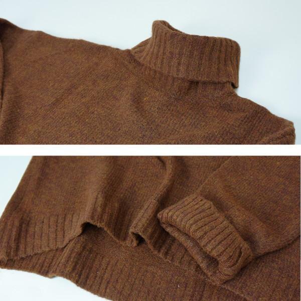 ざっくりニット タートルネック レディース 韓国 厚手 オーバーサイズ ゆったり セーター (送料無料)^t630^|raspberryy|18