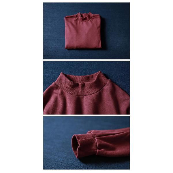 ワンピース レディース 体型カバー ニットワンピース ニット ボトルネック ロング 長袖 (w386)|raspberryy|04