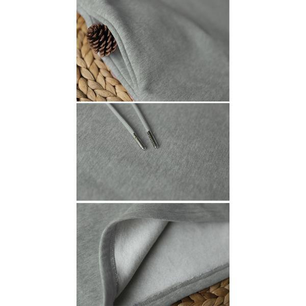 ワンピース チュニック レディース 体型カバー ロング ゆったり パーカーワンピース ボーダー フード (送料無料) (w391) SALE|raspberryy|05