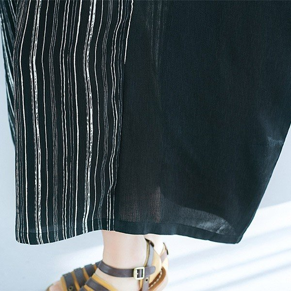 【在庫限り★ポッキリ価格】ワンピース マキシワンピ レディース 体型カバー ゆったり ロング丈 バイカラー ドルマン おしゃれ デザイン (w412)|raspberryy|07