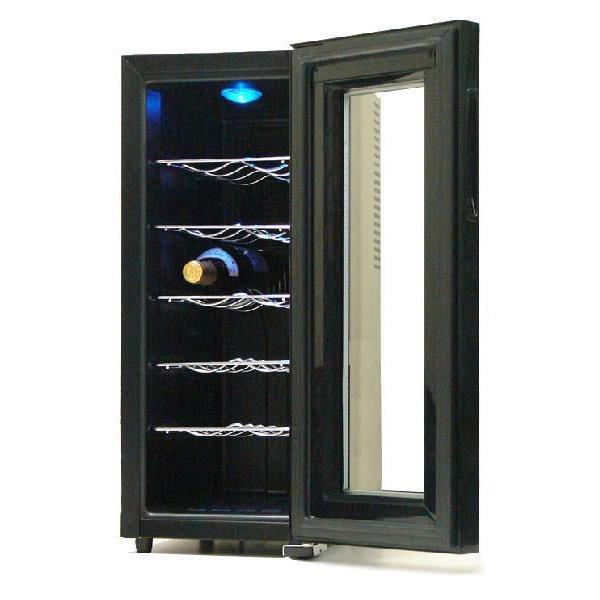 ワインセラー 家庭用ワインセラー ワインクーラー 12本収納 温度調節 縦型 スリム ワイン収納庫 ※代引き不可|rasta|03