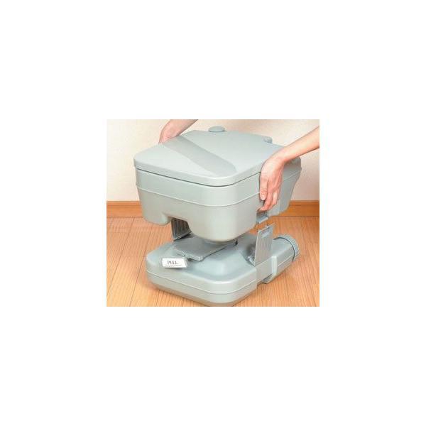 簡易トイレ/介護用品 トイレ/非常用トイレ/災害用トイレ/軽量ポータブル水洗トイレ10L|rasta|03