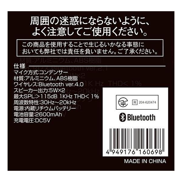 カラオケマイク Bluetooth 2Wayスピーカー付きカラオケマイクST TKY-66 送料無料|rasta|06