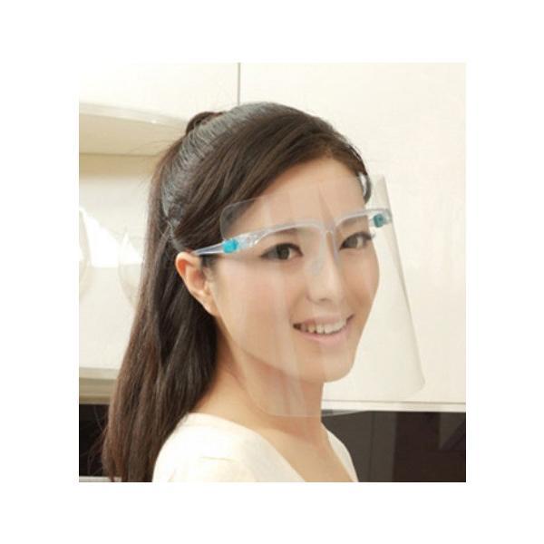 飛沫防止 フェイスシールド 眼鏡モデル シールド3枚セット 銀行 眼科 医療用 フェイスガード 大人用 フェイスカバー 接客業 コンビニ 介護施設 男女兼用 水洗い