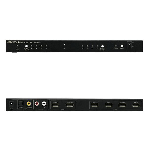 4入力2出力HDMIマトリックススイッチ REX-HDSW42|ratoc|02