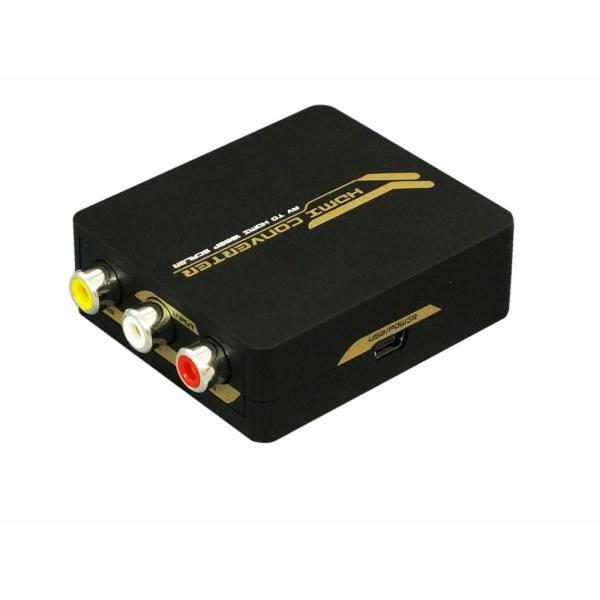 アナログ(コンポジット映像:CVBS)信号をデジタル(HDMI)信号に変換(給電用USBケーブル付き) コンポジット to HDMI 変換コンバーター RP-AV2HD2|ratoc|02
