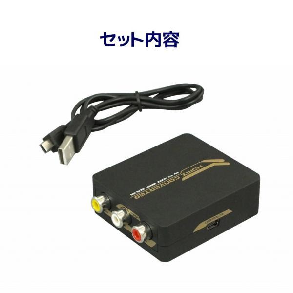 アナログ(コンポジット映像:CVBS)信号をデジタル(HDMI)信号に変換(給電用USBケーブル付き) コンポジット to HDMI 変換コンバーター RP-AV2HD2|ratoc|04