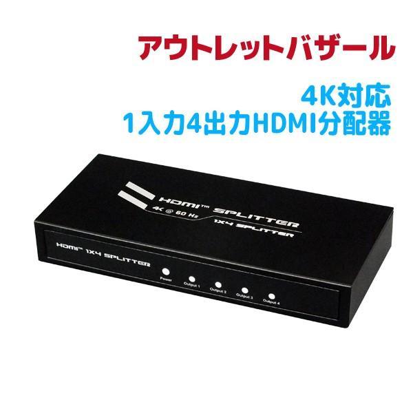 アウトレット特価 4K60Hz対応1入力4出力HDMI分配器 RP-HDSP4-4K OL ratoc 06