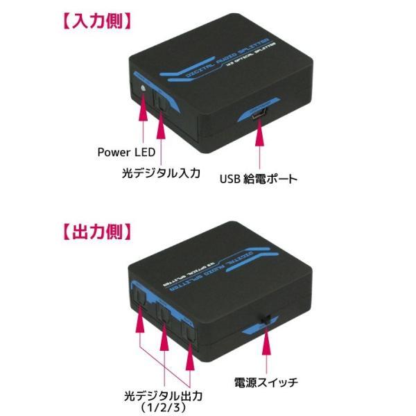 1入力3出力 光デジタル分配器 RP-OPTSP13 メーカー1年保証 ratoc 06