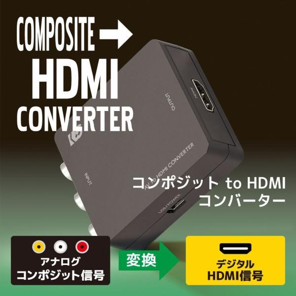 コンポジット to HDMI コンバーター RS-AV2HD1A|ratoc