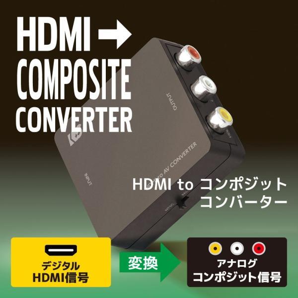 HDMI to コンポジット コンバーター RS-HD2AV1|ratoc
