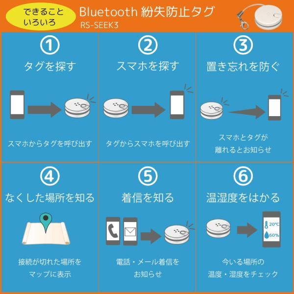 Bluetooth 4.0+LE対応 紛失防止タグ RS-SEEK3 ratoc 03