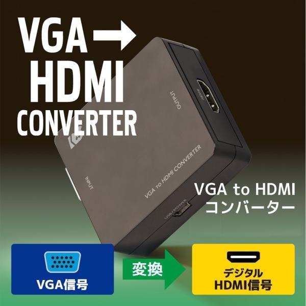 VGA to HDMI コンバーター RS-VGA2HD1|ratoc
