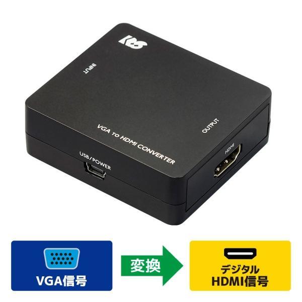 VGA to HDMI コンバーター RS-VGA2HD1|ratoc|02