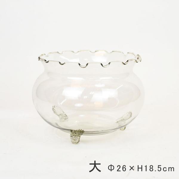フリル金魚鉢大ガラス製メダカ水槽水鉢アクアリウム熱帯魚